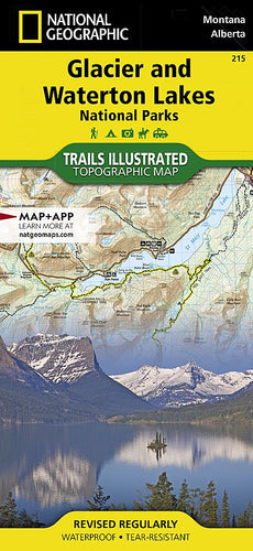 215 :: Glacier and Waterton Lakes National Parks Map Trails Illustrated Maps EVMAPLINK