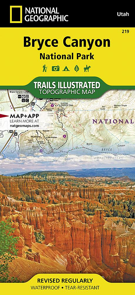219 :: Bryce Canyon National Park Map Trails Illustrated Maps EVMAPLINK
