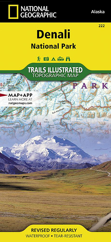 222 :: Denali National Park and Preserve Map Trails Illustrated Maps EVMAPLINK