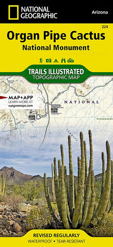 224 :: Organ Pipe Cactus National Monument Map Trails Illustrated Maps EVMAPLINK