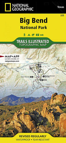 225 :: Big Bend National Park Map Trails Illustrated Maps EVMAPLINK