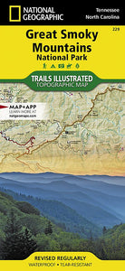 229 :: Great Smoky Mountains National Park Map Trails Illustrated Maps EVMAPLINK