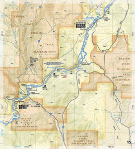 2307 :: Colorado River Kremmling to Glenwood Springs Map Fishing Map Guide EVMAPLINK