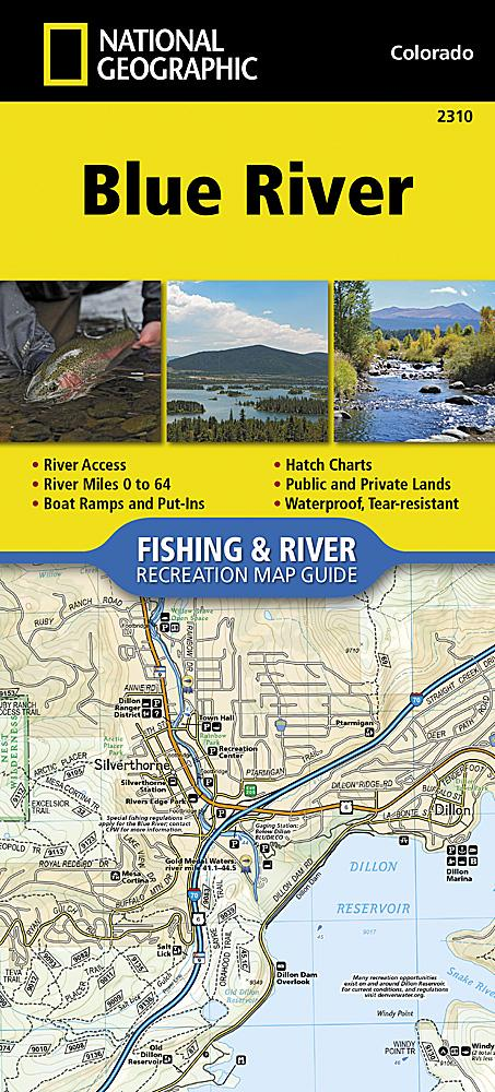 2310 :: Blue River Map Fishing Map Guide EVMAPLINK