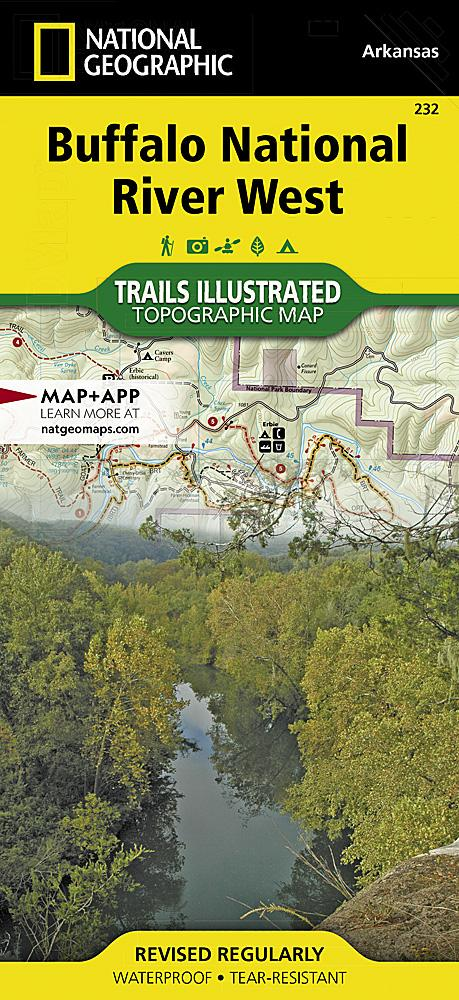 232 :: Buffalo National River West Map Trails Illustrated Maps EVMAPLINK