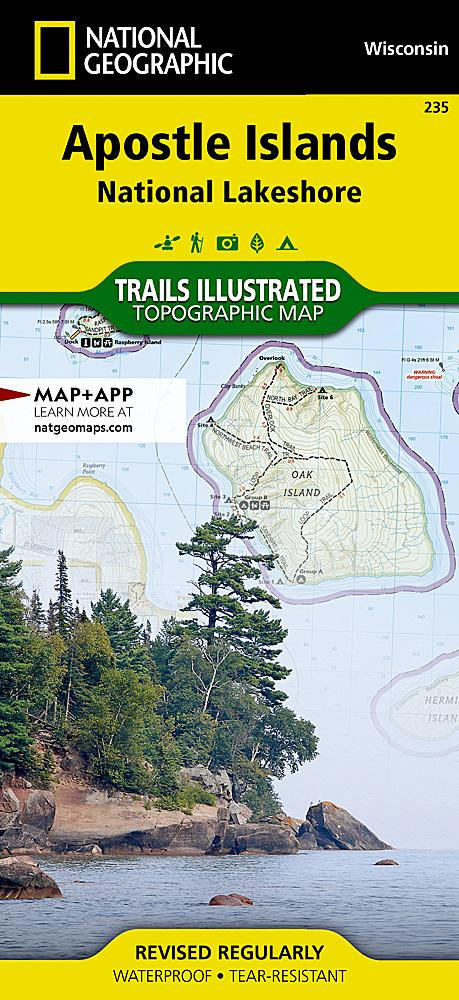 235 :: Apostle Islands National Lakeshore Map Trails Illustrated Maps EVMAPLINK