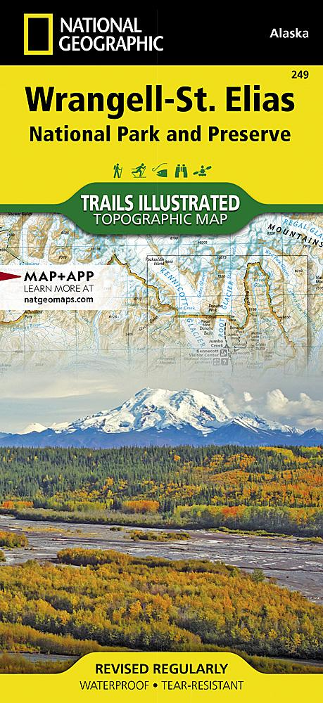 249 :: Wrangell-St. Elias National Park and Preserve Map Trails Illustrated Maps EVMAPLINK