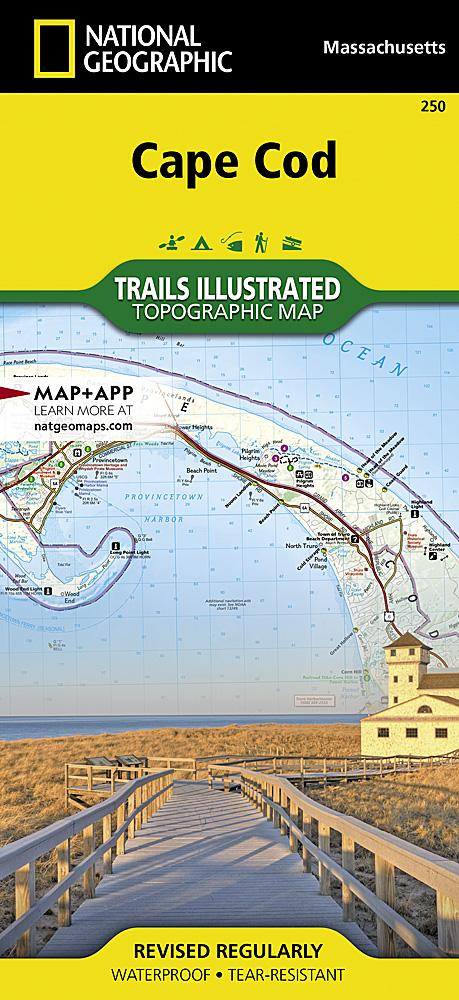 250 :: Cape Cod Map Trails Illustrated Maps Map-N-Hike