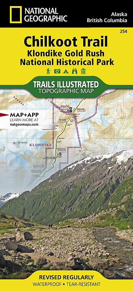 254 :: Chilkoot Trail Klondike Gold Rush National Historic Park Map Trails Illustrated Maps EVMAPLINK