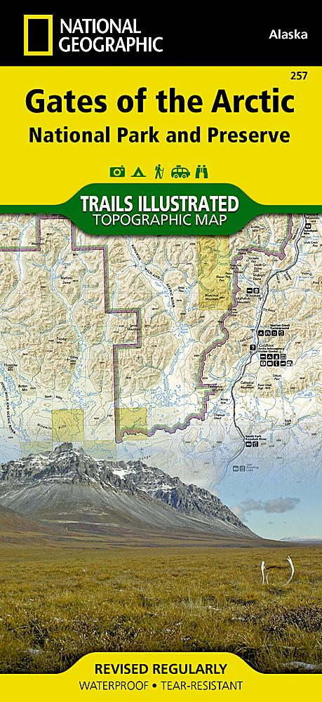 257 :: Gates of the Arctic National Park and Preserve Map Trails Illustrated Maps EVMAPLINK