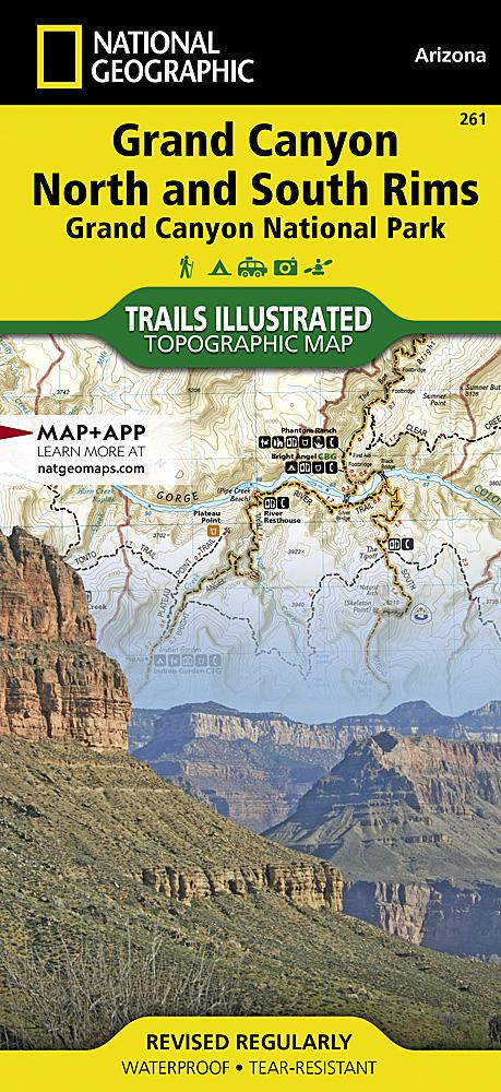 261 :: Grand Canyon North and South Rims [Grand Canyon National Park] Map Trails Illustrated Maps EVMAPLINK