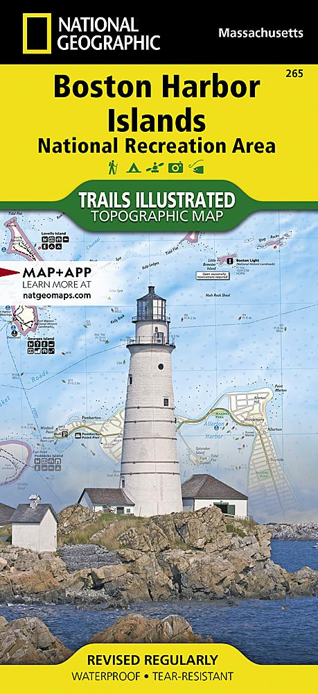 265 :: Boston Harbor Islands National Recreation Area Map Trails Illustrated Maps Map-N-Hike