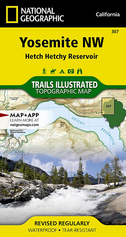 307 :: Yosemite NW: Hetch Hetchy Reservoir Map Trails Illustrated Maps EVMAPLINK