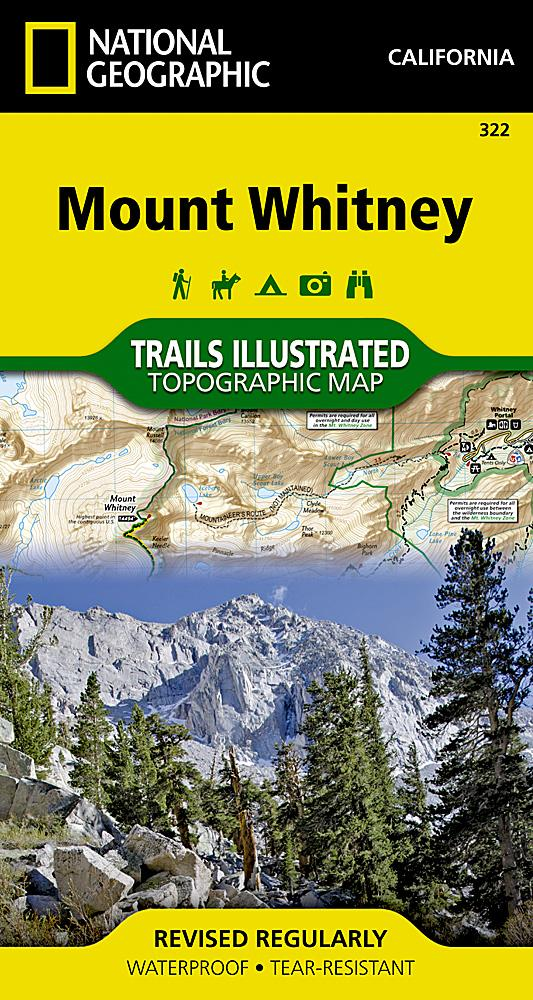 322 :: Mount Whitney Map Trails Illustrated Maps EVMAPLINK