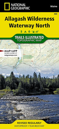 400 :: Allagash Wilderness Waterway North Map Trails Illustrated Maps Map-N-Hike