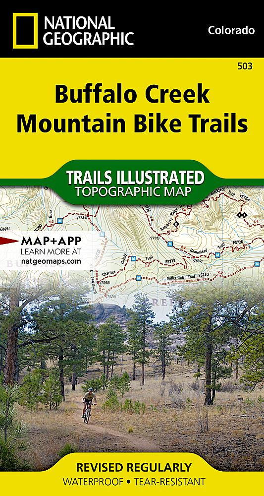 503 :: Buffalo Creek Mountain Bike Trails Map Trails Illustrated Maps EVMAPLINK