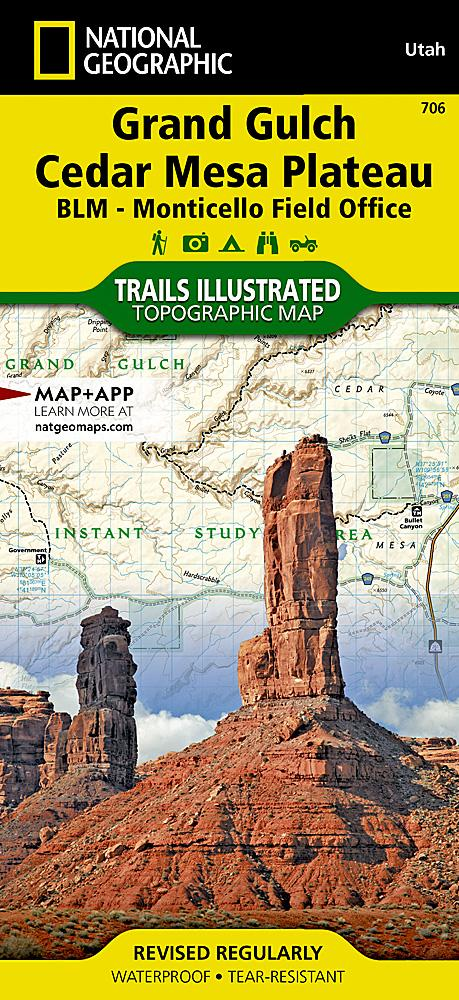 706 :: Grand Gulch Cedar Mesa Plateau Map [BLM - Monticello Field Office] Trails Illustrated Maps EVMAPLINK