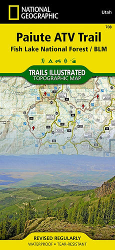 708 :: Paiute ATV Trail Map [Fish Lake National Forest BLM] Trails Illustrated Maps EVMAPLINK