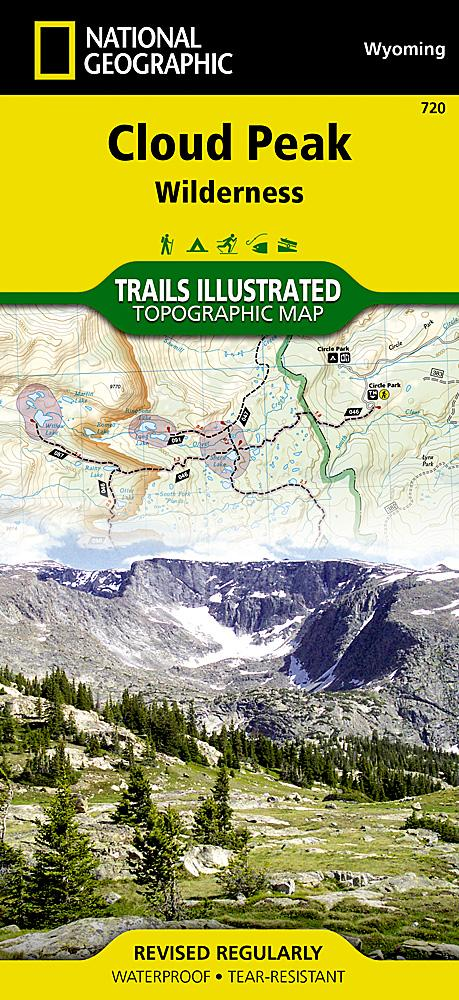720 :: Cloud Peak Wilderness Map Trails Illustrated Maps EVMAPLINK