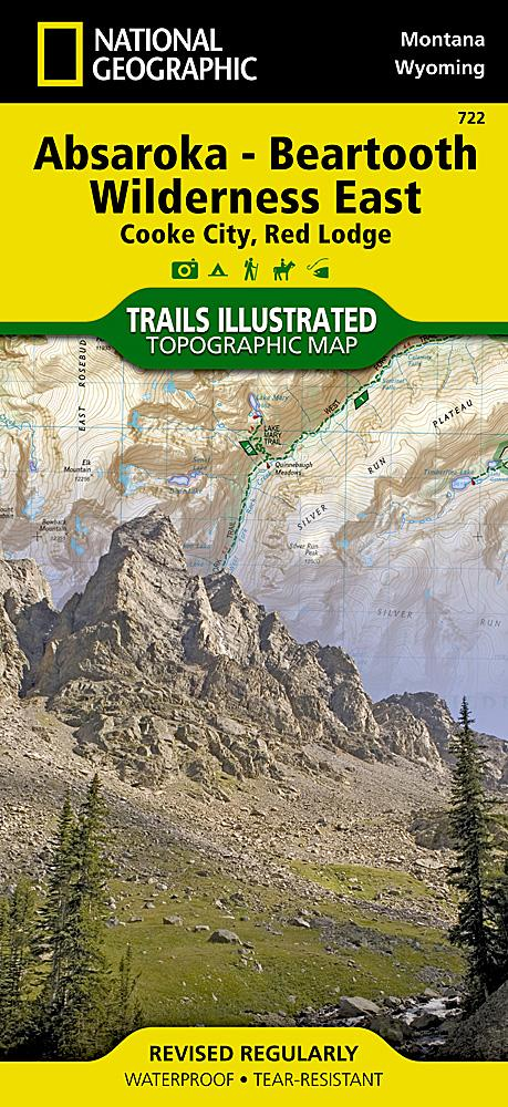722 :: Absaroka-Beartooth Wilderness East Map [Cooke City Red Lodge] Trails Illustrated Maps EVMAPLINK