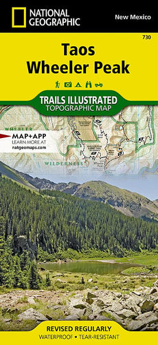 730 :: Taos Wheeler Peak Map Trails Illustrated Maps EVMAPLINK