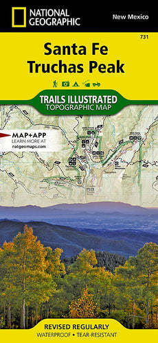 731 :: Santa Fe Truchas Peak Map Trails Illustrated Maps EVMAPLINK