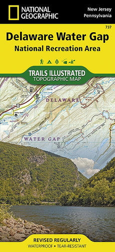 737 :: Delaware Water Gap National Recreation Area Map Trails Illustrated Maps EVMAPLINK