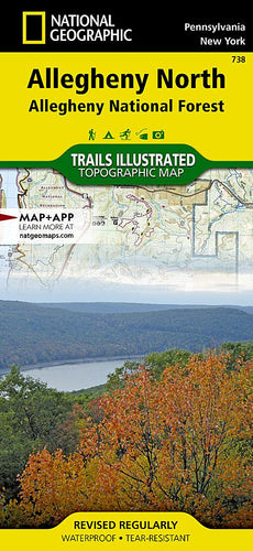 738 :: Allegheny North Map [Allegheny National Forest] Trails Illustrated Maps EVMAPLINK