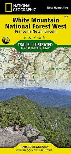 740 :: White Mountain National Forest West Map [Franconia Notch Lincoln] Trails Illustrated Maps Map-N-Hike