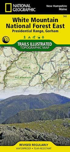 741 :: White Mountain National Forest East Map [Presidential Range Gorham] Trails Illustrated Maps Map-N-Hike