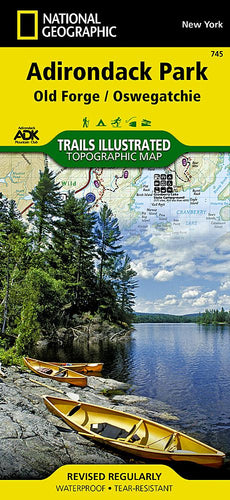 745 :: Old Forge Oswegatchie: Adirondack Park Map Trails Illustrated Maps Map-N-Hike