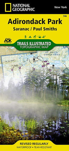 746 :: Saranac Paul Smiths: Adirondack Park Map Trails Illustrated Maps Map-N-Hike