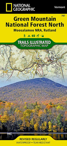 747 :: Green Mountain National Forest North [Moosalamoo National Recreation Area Rutland] Map Trails Illustrated Maps Map-N-Hike