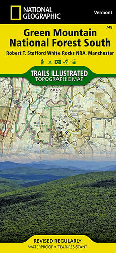 748 :: Green Mountain National Forest South [Robert T. Stafford White Rocks National Recreation Area Manchester] Map Trails Illustrated Maps Map-N-Hike