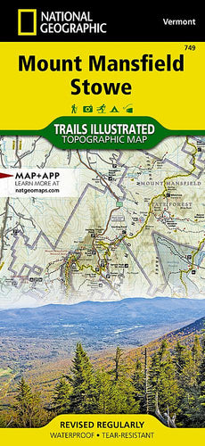 749 :: Mount Mansfield Stowe Map Trails Illustrated Maps Map-N-Hike