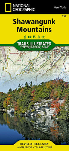 750 :: Shawangunk Mountains Map Trails Illustrated Maps EVMAPLINK