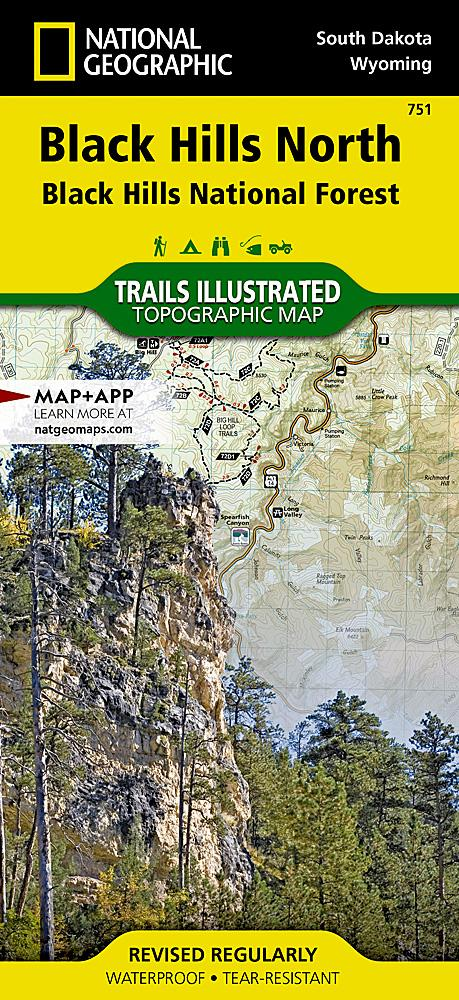 751 :: Black Hills North [Black Hills National Forest] Map Trails Illustrated Maps EVMAPLINK