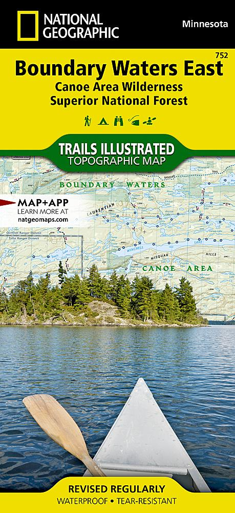 752 :: Boundary Waters East [Canoe Area Wilderness Superior National Forest] Map Trails Illustrated Maps EVMAPLINK