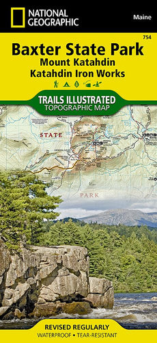 754 :: Baxter State Park [Mount Katahdin Katahdin Iron Works] Map Trails Illustrated Maps Map-N-Hike