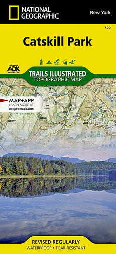 755 :: Catskill Park Map Trails Illustrated Maps EVMAPLINK