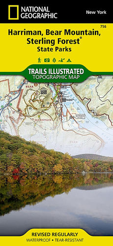 756 :: Harriman Bear Mountain Sterling Forest State Parks Map Trails Illustrated Maps EVMAPLINK