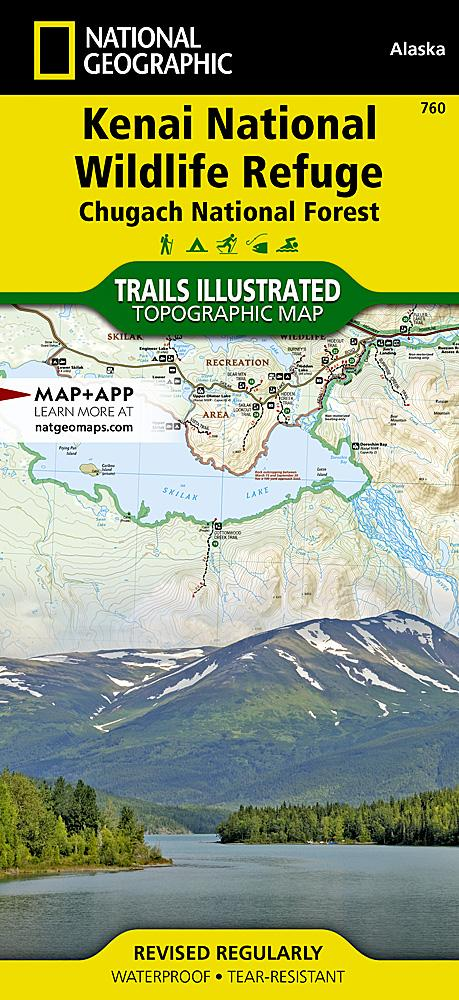 760 :: Kenai National Wildlife Refuge [Chugach National Forest] Map Trails Illustrated Maps EVMAPLINK