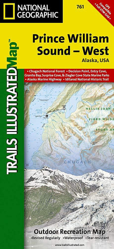 761 :: Prince William Sound West Map Trails Illustrated Maps EVMAPLINK