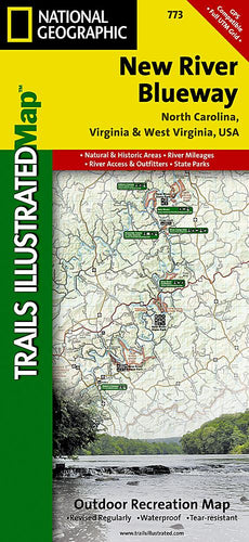 773 :: New River Blueway Map Trails Illustrated Maps EVMAPLINK
