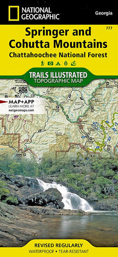 777 :: Springer and Cohutta Mountains [Chattahoochee National Forest] Map Trails Illustrated Maps EVMAPLINK