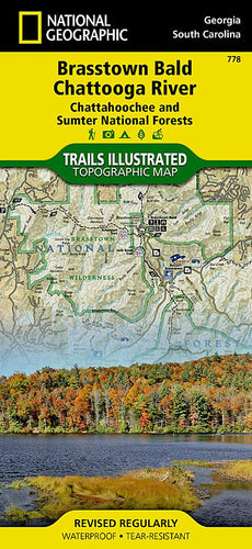 778 :: Brasstown Bald Chattooga River [Chattahoochee and Sumter National Forests] Map Trails Illustrated Maps EVMAPLINK