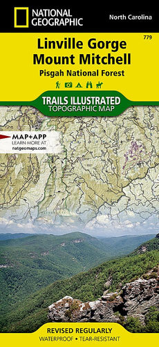 779 :: Linville Gorge Mount Mitchell [Pisgah National Forest] Map Trails Illustrated Maps EVMAPLINK