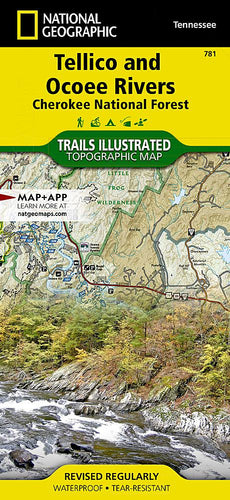 781 :: Tellico and Ocoee Rivers [Cherokee National Forest] Map Trails Illustrated Maps EVMAPLINK