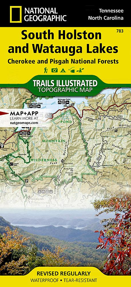 783 :: South Holston and Watauga Lakes [Cherokee and Pisgah National Forests] Map Trails Illustrated Maps EVMAPLINK
