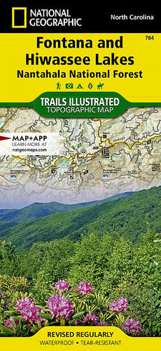 784 :: Fontana and Hiwassee Lakes [Nantahala National Forest] Map Trails Illustrated Maps EVMAPLINK